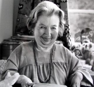 Rosemary Sutcliff (1920-92) in her work study, writing-room