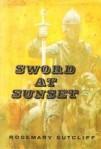 Original Hardback cover Rosemary Sutcliff's Sword at Sunset Arthurian historical novel