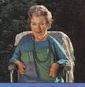 Rosemary Sutcliff in her garden
