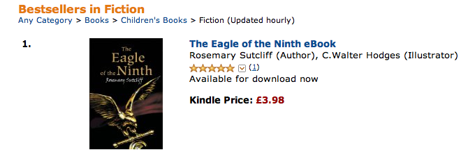 The Eagle of the Ninth topselling on Amazon 26 March