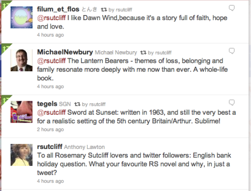 Twitter on favourite Rosemary Sutcliff book