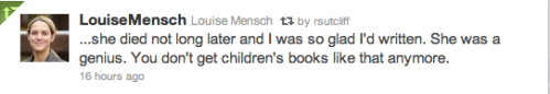 Louise Mensch loves Rosemary Sutcliff-1
