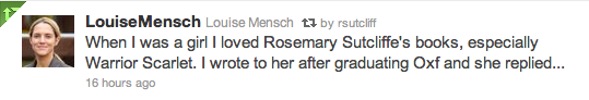 Lousise Mensch reads Rosemary Sutcliff