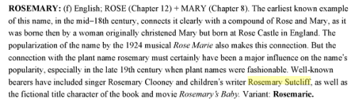 Rosemary in Baby Names for Dummies