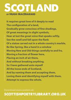 SPL Poster Scotland Hugh MacDiarmid