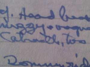excerpt Rosemary Sutcliff diary 28/5/88