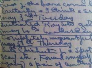 Rosemary Sutcliff diary entry  4 May 1989