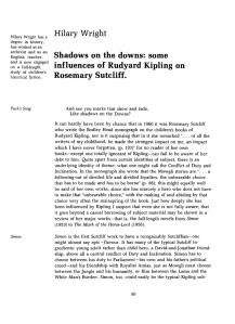 Article on Rosemary Sutcliff and Rudyard Kipling