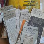 Press cuttings about Historical novel Sword at Sunset by Rosemary Sutcliff