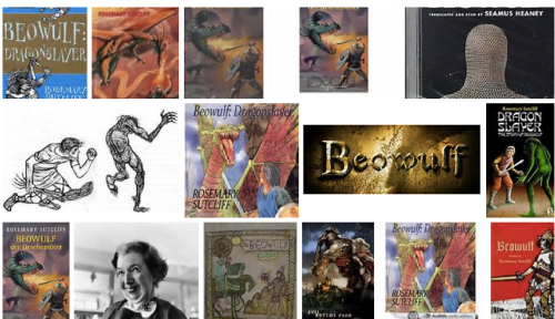 Covers of Rosemary Sutcliff's retelling of Beowulf via Bing