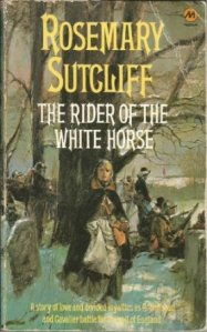 The Rider of the White Horse by Rosemary Sutcliff, Paperback cover.