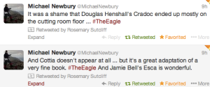 Twitter on The Eagle film