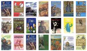Collage of Rosemary Sutcliff covers from Library Thing 1