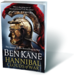 Cover of historical fiction by Ben Kane | Hannibal Clouds of War