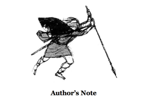 Illustration from From The Author's Note to The High Deeds of Finn MacCool by Rosemary Sutcliff