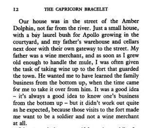 Excerpt from The Capricorn Bracelet