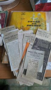 Sword at Sunset newspaper clippings of reviews  of historical novel by Rosemary Sutcliff