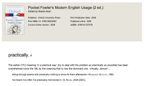 Use of Rosemary Sutcliff quote in Oxford Fowler's English Usage