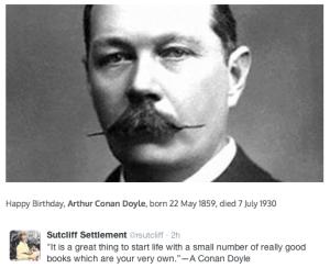 Arthur Conan Doyle Birthday Quote