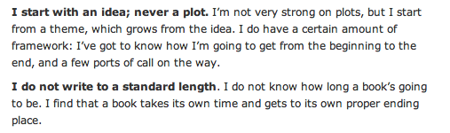 Rosemary Sutcliff on writing - plot and length