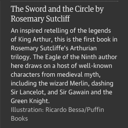 Guardian text on Rosemary Sutcliff The Sword and the Circle