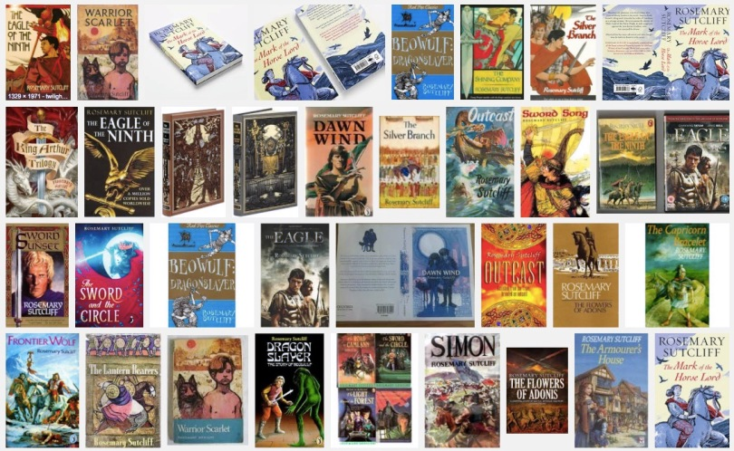 Collection of Rosemary Sutcliff covers via Google Images March 2016